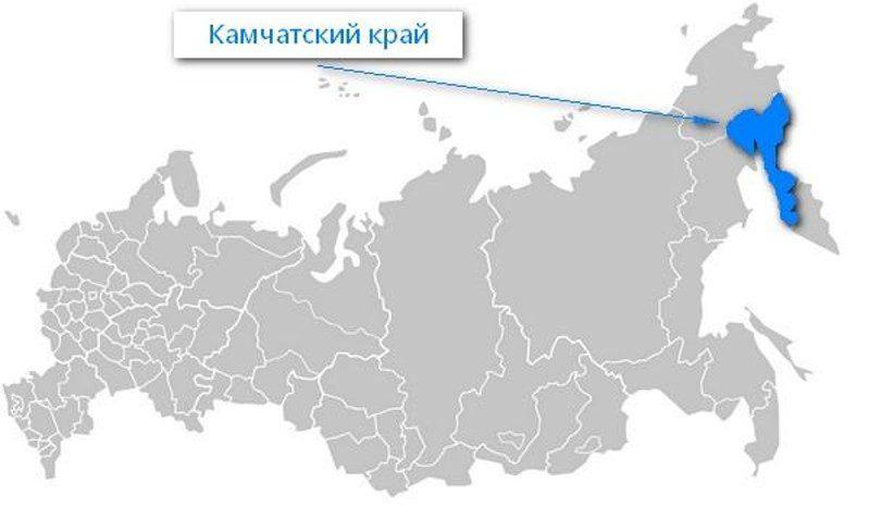 Карта нахождения Камчатского края