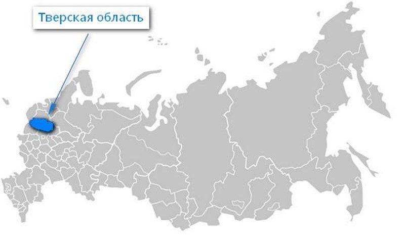 Карта нахождения Тверской области
