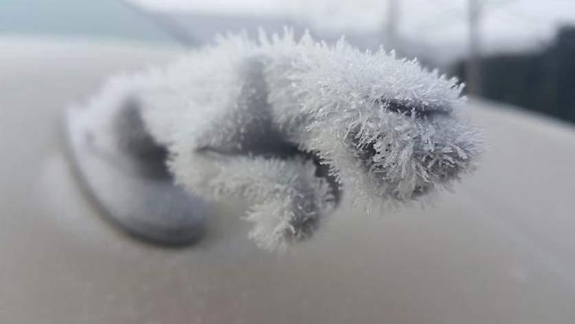 Замерзший значек ягуара