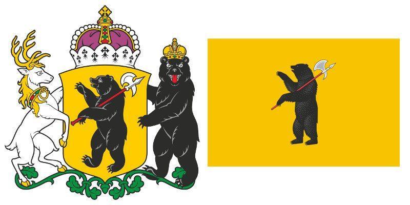 Герб и Флаг 76 и 176 региона