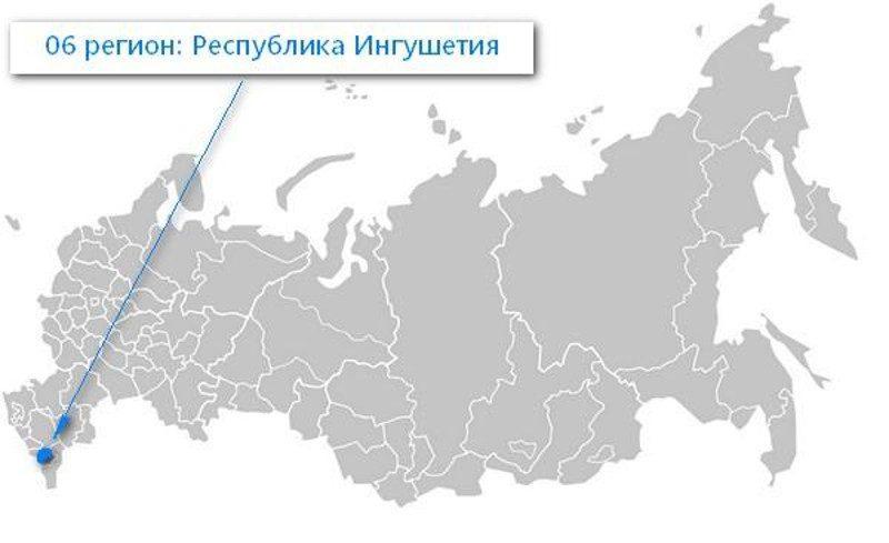 Карта нахождения Республики Ингушетия