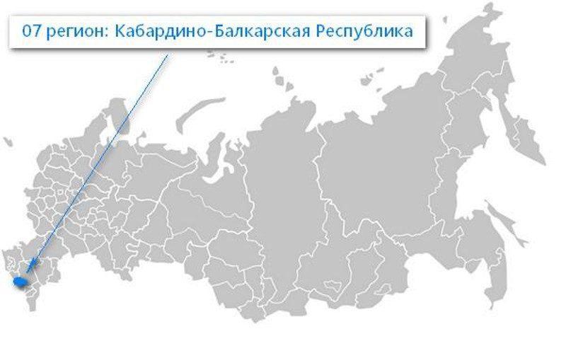 Карта нахождения Кабардино-Балкарской Республики