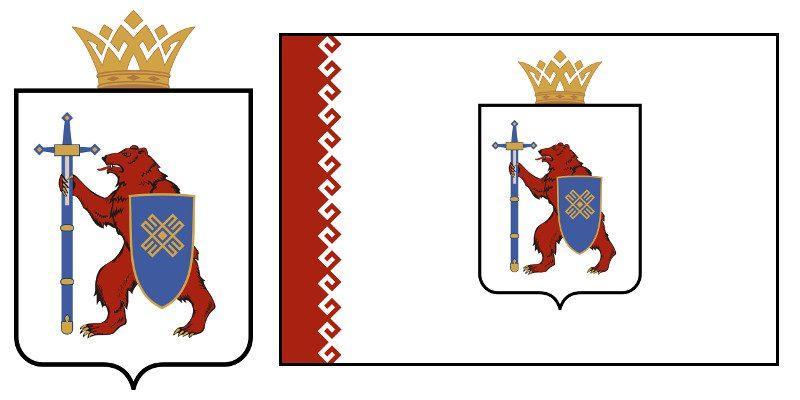 Герб и Флаг 12 и 112 региона