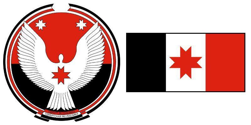 Герб и Флаг 18 и 118 региона
