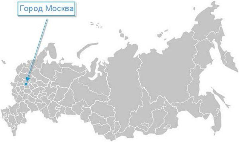 Карта нахождения города Москва
