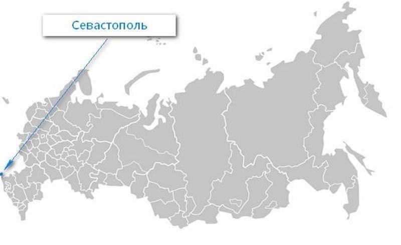 Карта нахождения города Севастополь
