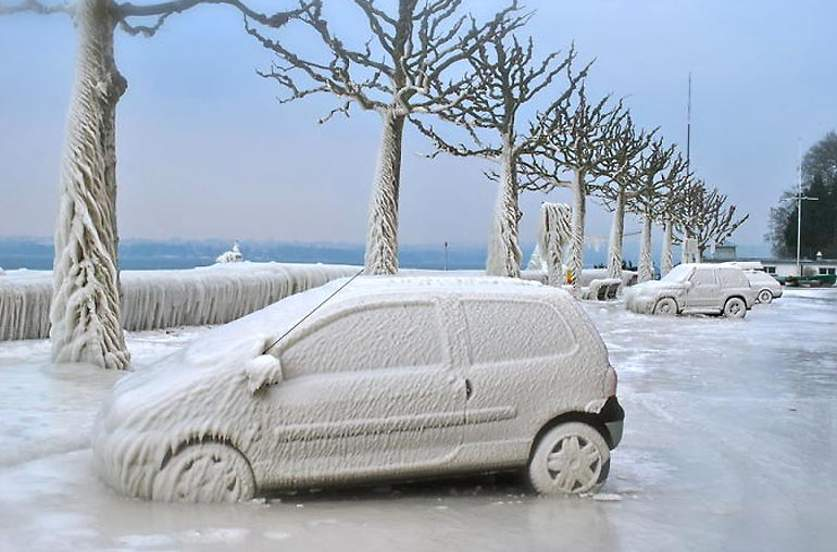 А-класс авто замерзло